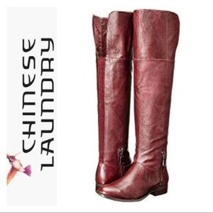 Chinese Laundry 'Fawn' Leather Riding Boot